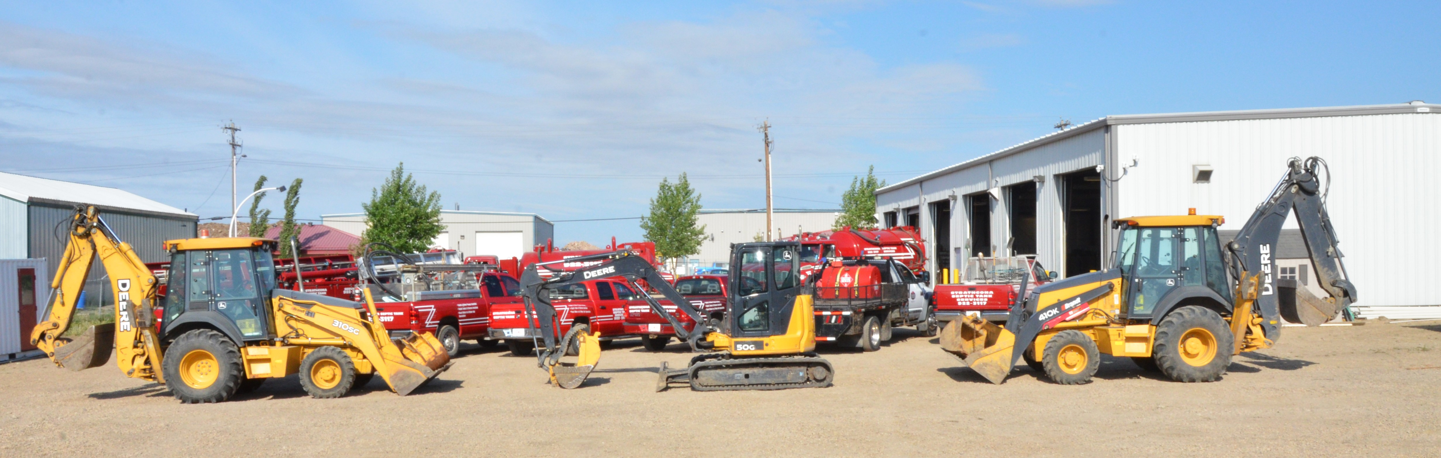 Excavating Construction Equipment for Septic and Cistern Installation